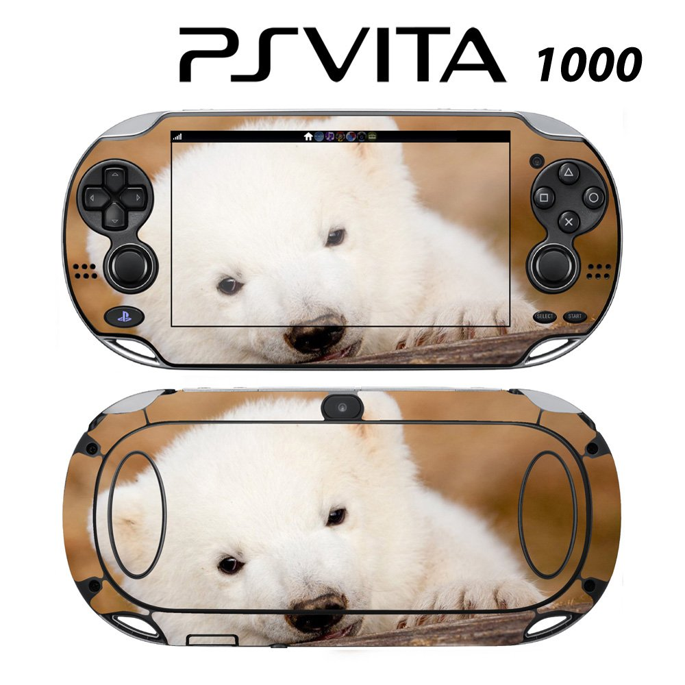 Decorative Video Game Skin Decal Cover Sticker for Sony PlayStation PS Vita (PCH-1000) - Cute Polar Bear Cub