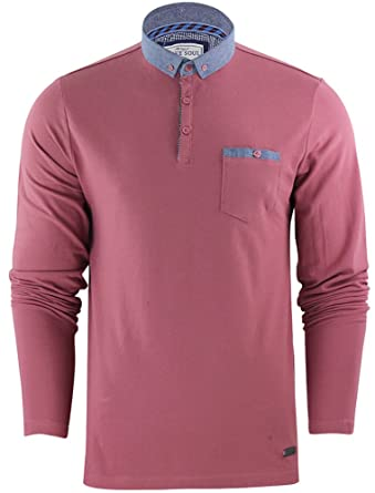 Camiseta polo Brave Soul para hombre Rosa Washed Rose Small ...