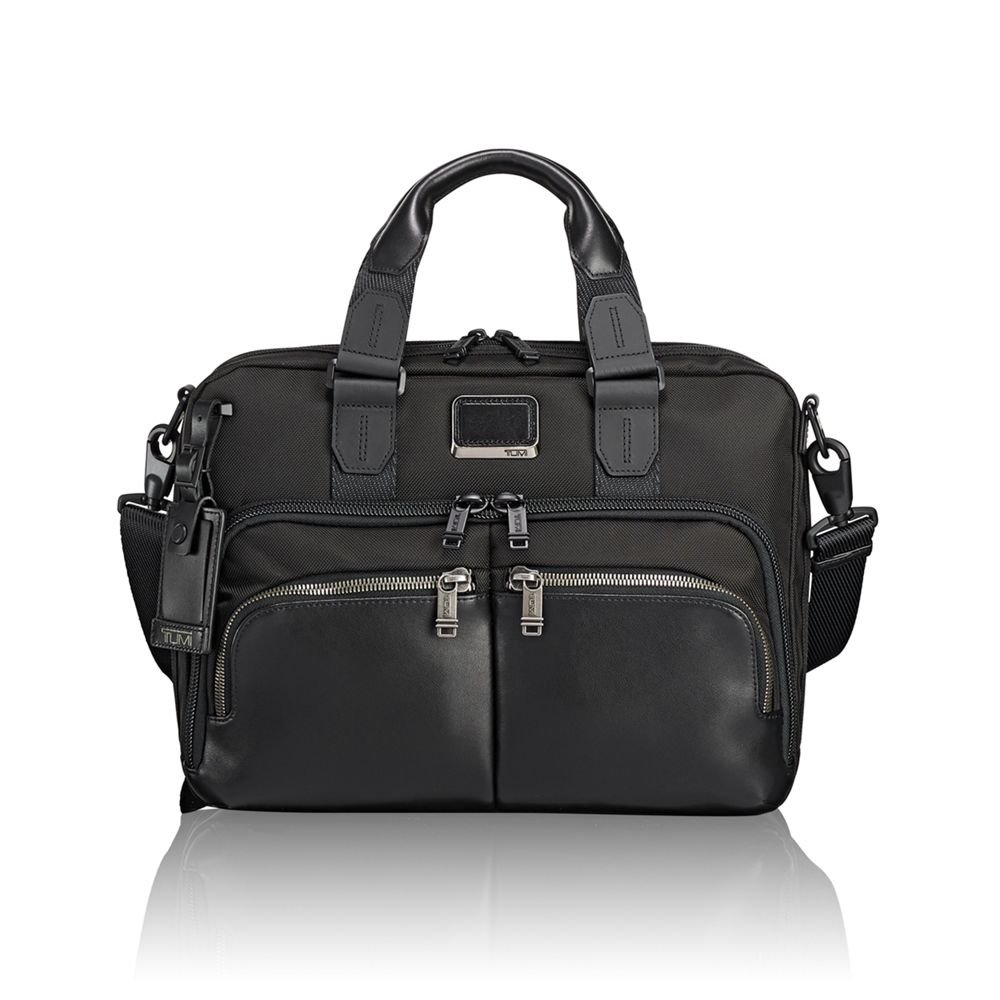 Amazon.com | TUMI - Alpha Bravo Albany Laptop Slim Commuter Brief Briefcase  - 14 Inch Computer Bag for Men and Women - Black | Briefcases