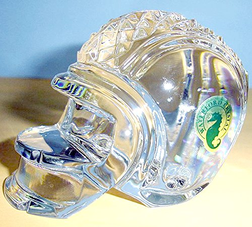 - Waterford Crystal Football Helmet Paperweight Made In Ireland New