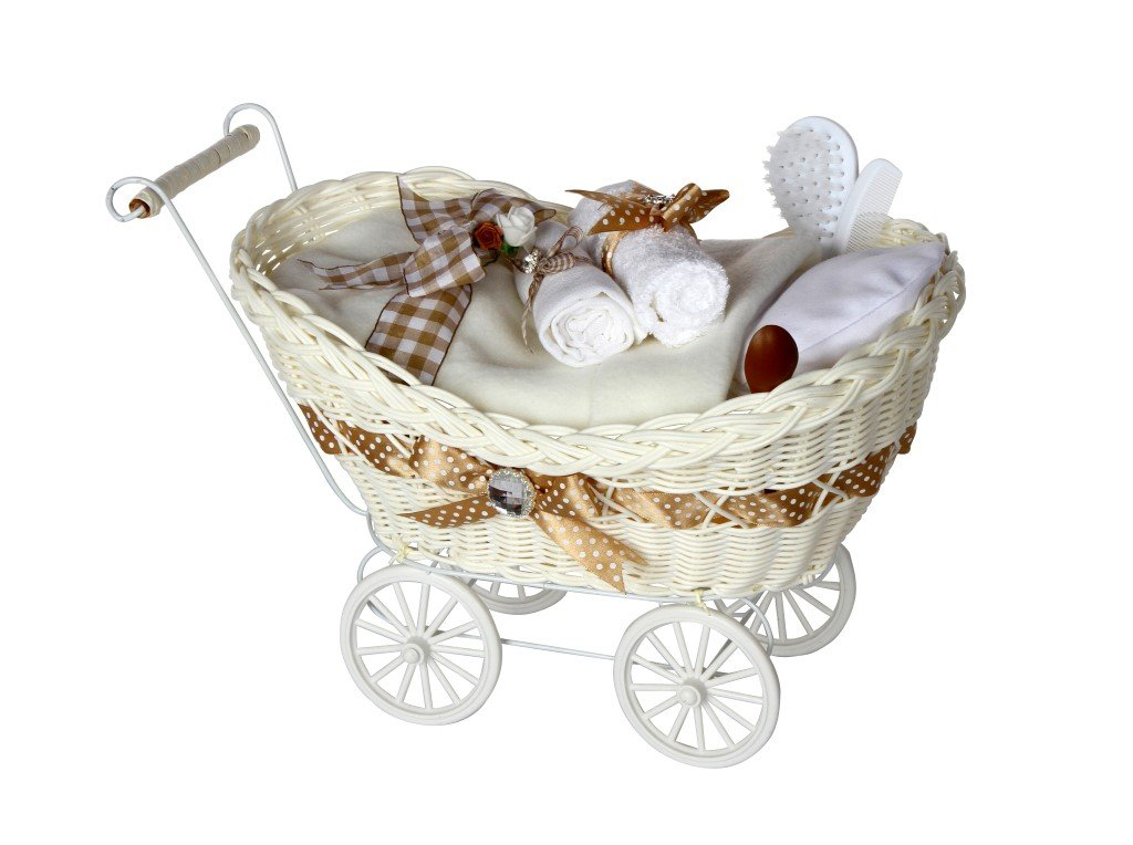 Cherish Luxury DELUXE Unisex Baby Gift / Pram Hamper / Baby Hamper / Baby Basket / Baby Shower Gift / New Arrival Gift / Neutral Nappy Cake / Neutral Baby Gift / Newborn Gift / Baby Boy or Girl Gift / FAST DISPATCH Pitter Patter BabyPitter