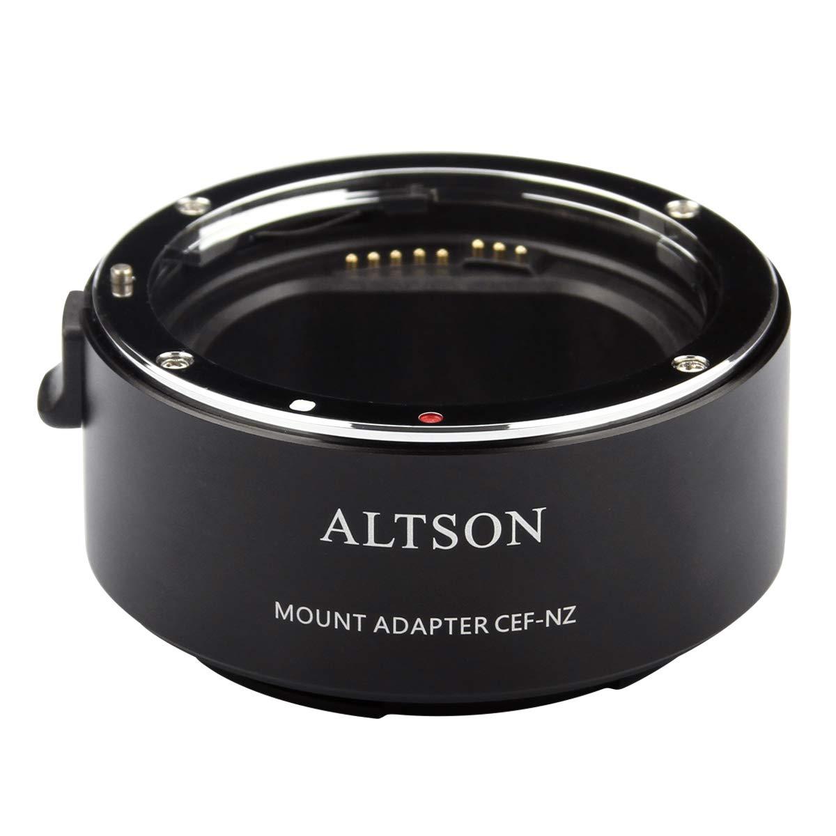 Altson CEF-NZ Smart Adaptor is Compatible with Canon EF/EF-S Len to Nikon Z Mount Camera Z6 Z7 (CEF-NZ) by Altson