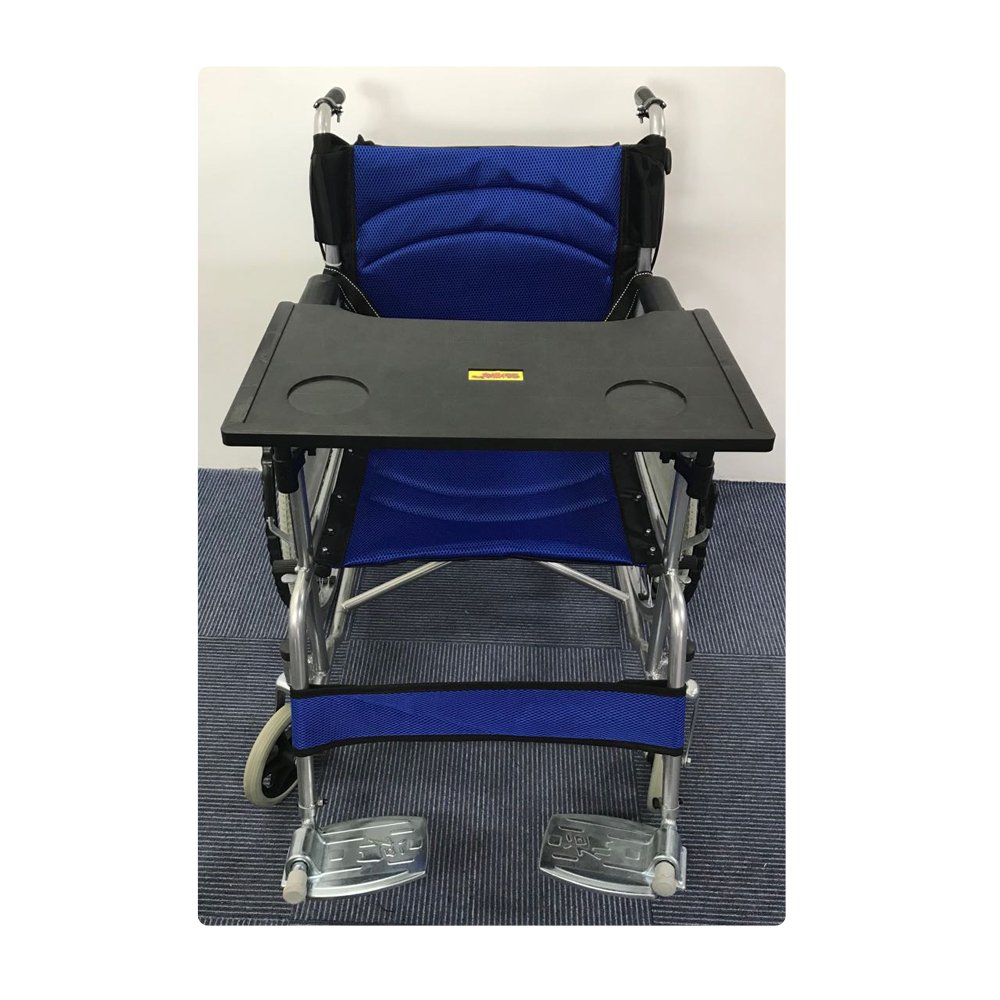 Wheelchair Table Lap Tray (Suitable for 16~18 inch Wheelchairs) (Black)