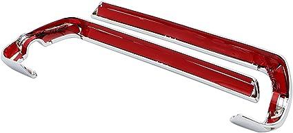 Senkauto Chrome Saddlebag Red LED Side Marker Light Cover for Harley Touring Road Electra Street Glide 2014-2018