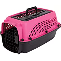 Petmate 21227 Two Door Top Load 19-Inch Pet Kennel, Pearl Honey Rose and Coffee Ground Bottom