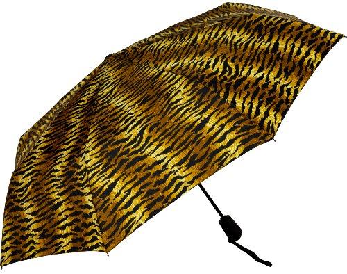 - Haas-Jordan by Westcott Auto-Open/Close Folding Umbrella, Tiger Stripe, 42-Inch