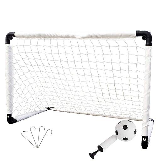 ZGYQGOO Puerta de fútbol para niños, con balón de fútbol y Bomba ...
