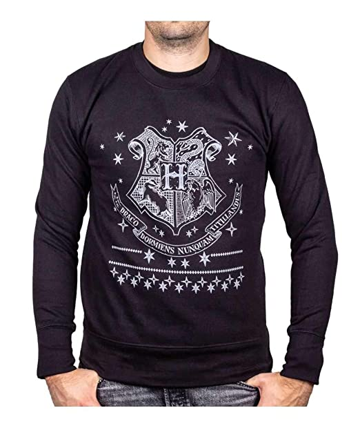 Harry Potter Sweater Jumper Hogwarts Crest Negro: Amazon.es: Ropa y accesorios