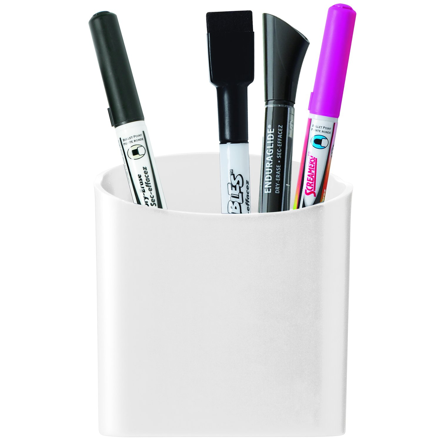 Amazon.com : Quartet Magnetic Pen and Pencil Cup Holder, White (48120-WT) :  Office Supplies Organizers : Office Products