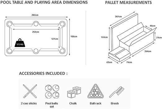9 pies mesa de billar billar Radley Diamond + opciones para ...