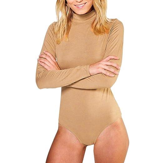 ... Jumpsuits Rompers  wholesale dealer 38f56 f64cd Kstare Women Long  Sleeve Solid Clubwear Party Jumpsuit Bodysuit Stretch Knit Leotard ... 13b558f38