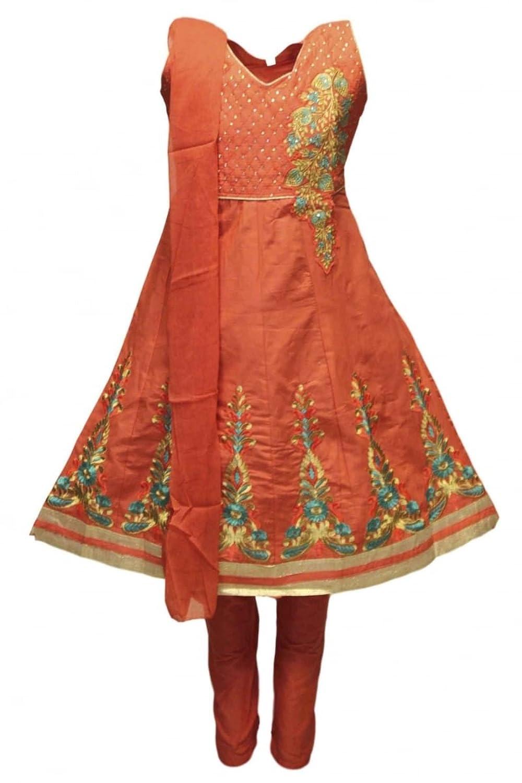 Indian En Et Costume Bollywood Or Corail Clair Gcs3315 Churidar Tl3JcuKF1