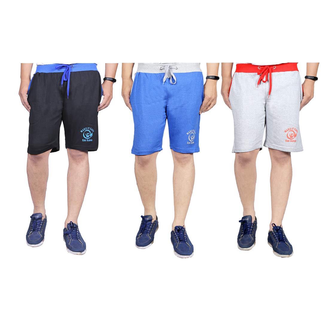 Ezee Sleeves Men's Cotton Shorts Combo (Set of 3)