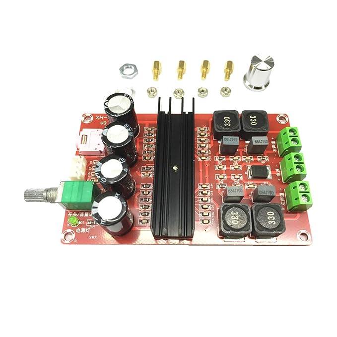 Sharplace TDA3116D2 Amplificador de Audio Válvula de 2 Canales Estéreo Amplificador de Sonido: Amazon.es: Bricolaje y herramientas