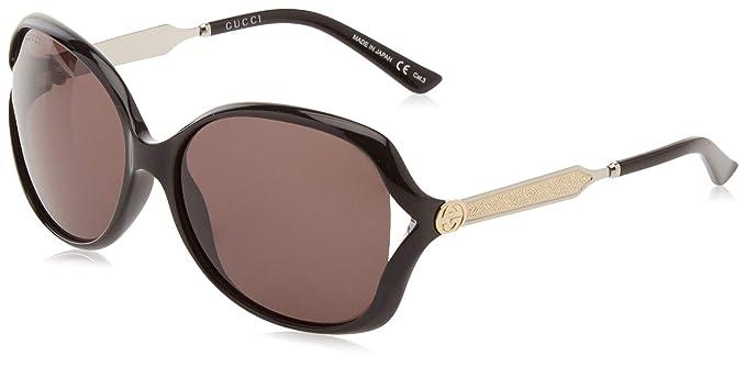Gucci GG0058SK 001, Montures de Lunettes Homme, Noir (Black Silver), 55   Amazon.fr  Vêtements et accessoires 68a383604c7f