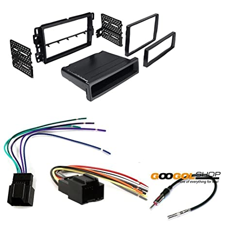 amazon com car stereo dash install mounting kit wire harness radio Scosche Stereo Wiring Harness at Stereo Mounting Kit And Wiring Harness