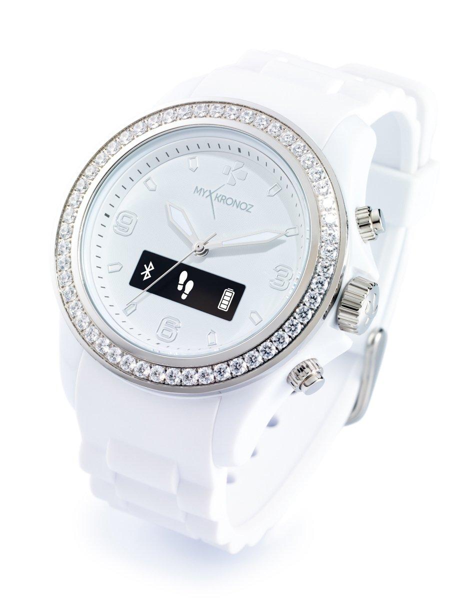 Amazon.com: ZeClock Swarovski Smartwatch (White): TheBIGDeal