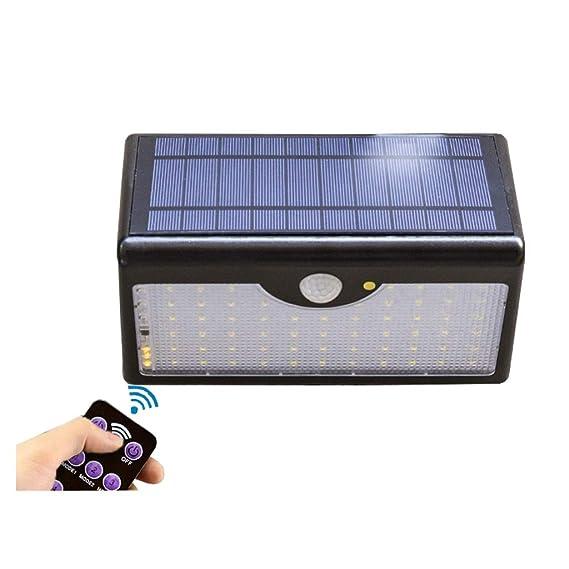 XEX Luz Solar del Jardín, Lámpara De Pared Impermeable Foco LED ...