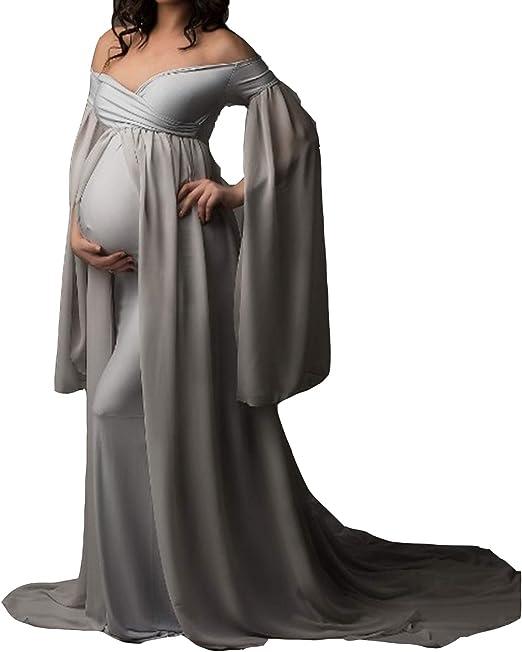 Arbres Damen Abendkleider Lang Abschlussball Brautkleid Chiffon