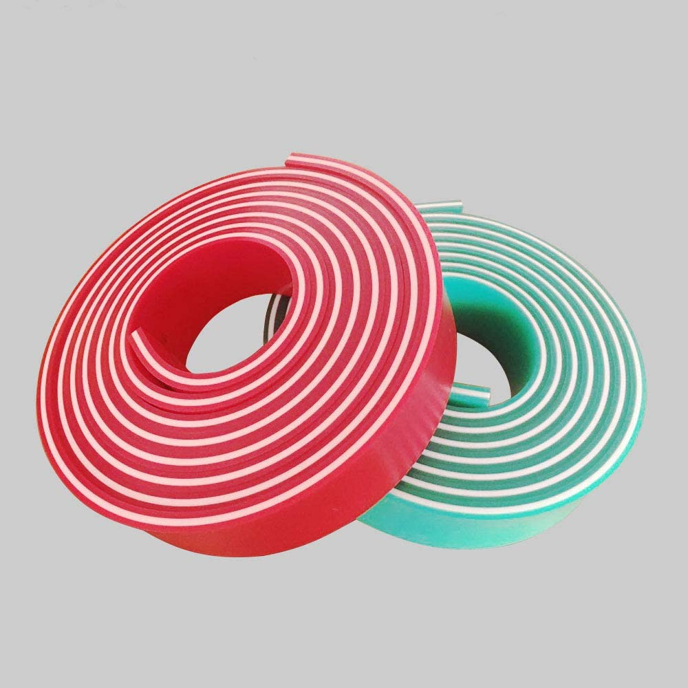 80 Duro, 1 roll Durometer 12FT//144INCH Silk Screen Squeegee Rubber Blade 2 x 3//8-Squeegee roll