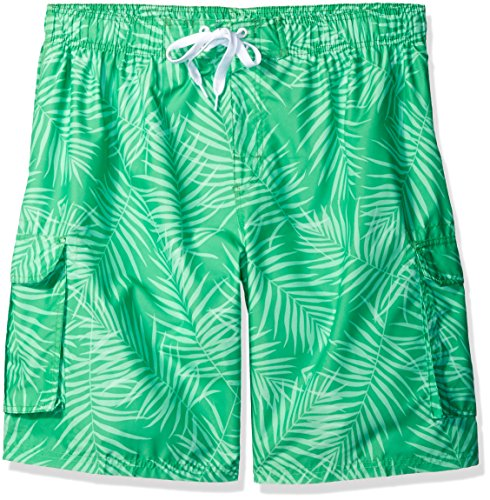 Kanu Surf Men's Big Palma Extended Size Leaf Volley Swim Trunk, Green, 4X