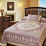 Maine Heritage Weavers Spirit of America Bedspread, White, Twin