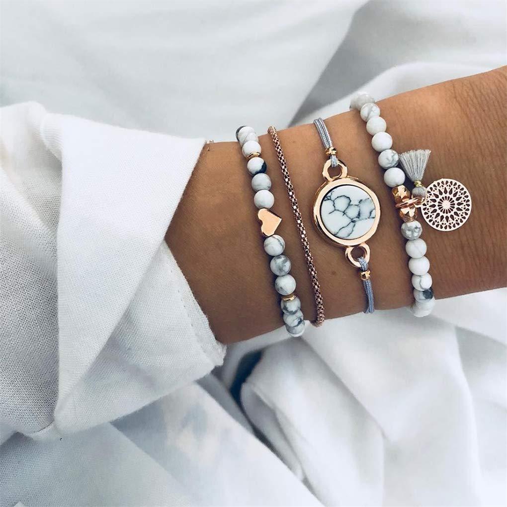 5pcs//set Handmade Vintage Silver Animal Charms Pendant Bracelet Women Jewelry