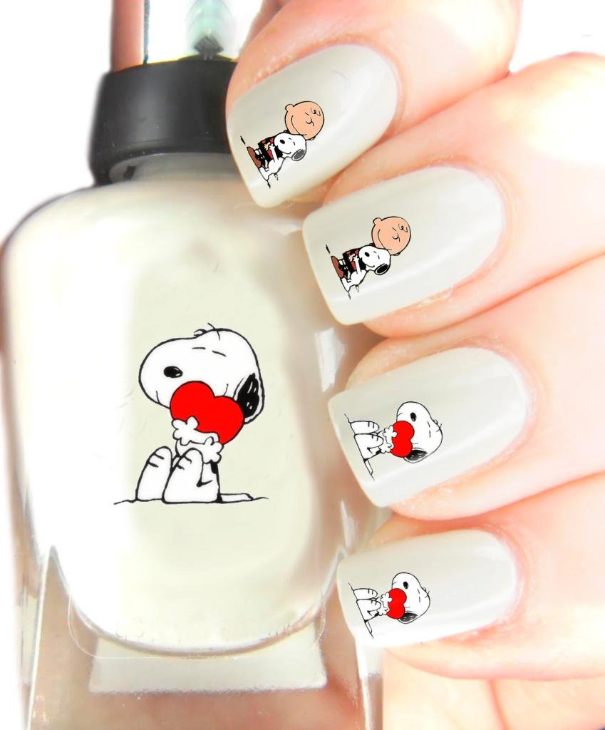 Easy to use, High Quality Nail Art Decal Stickers For Every Occasion! Ideal Christmas present, stocking filler Snoopy and Charlie Brown SNAD