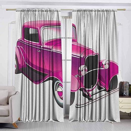 VIVIDX - Cortina para Puerta corredera, diseño Abstracto de Olas del océano con Curvas horizontales y líneas, Impermeable, Color Rosa pálido: Amazon.es: Hogar