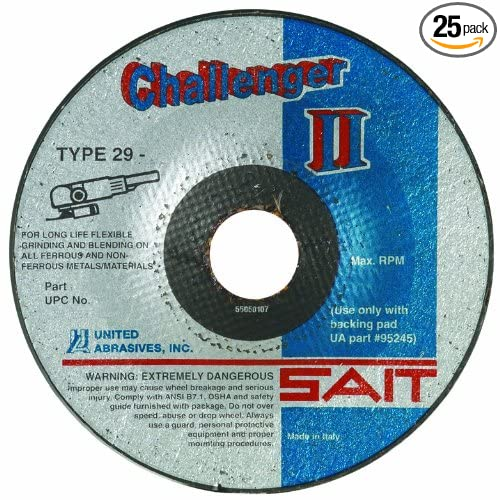 United Abrasives-SAIT 27511 CH II 7 by 1//8 by 7//8 36X Flexible Type 29 Grinding//Blending Wheel 25-Pack