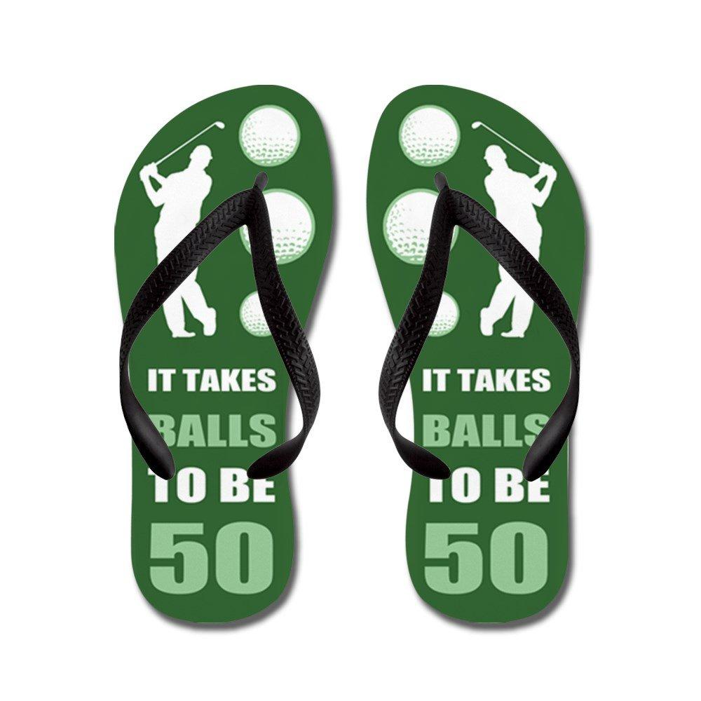 CafePress Funny Golf 50Th Birthday - Flip Flops, Funny Thong Sandals, Beach Sandals