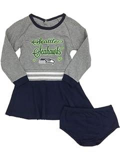 99324c8db13 Toddler Girls Seattle Seahawks Football Cheer Leader Outfit Cheerleader  Dress