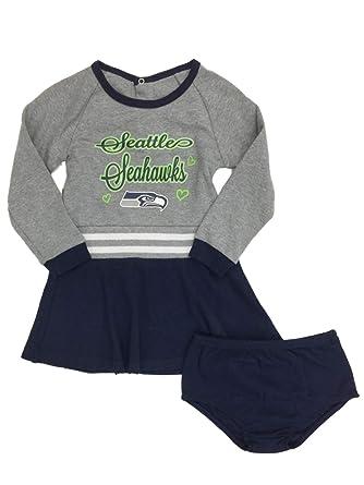 Toddler Girls Seattle Seahawks Football Cheer Leader Outfit Cheerleader  Dress 2T 59139c376