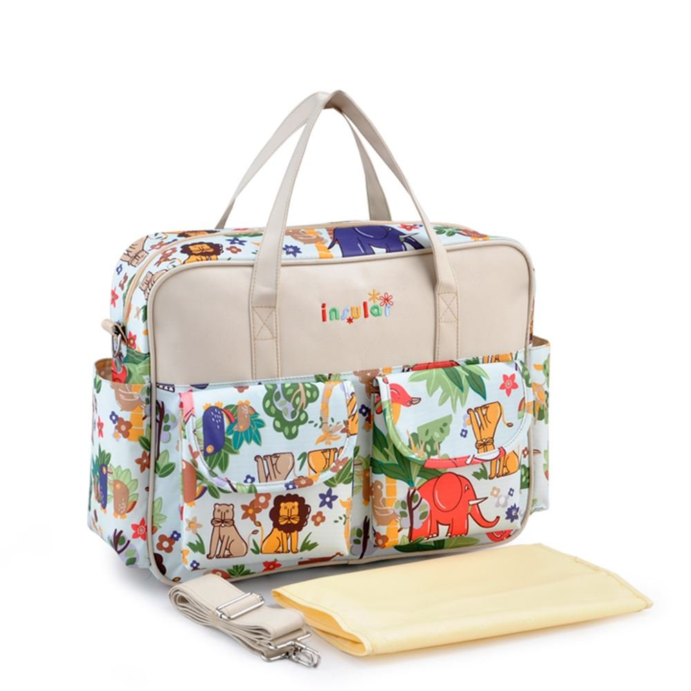 a2b95c7d28f5 Sine90® Large Baby Mummy Waterproof Nappy Changing Bags With Changing Mat Diaper  Bag Beige