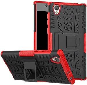 حافظة هاتف سوني اكسبيريا L1 Hybrid TPU مطاطي صلب خلفي مقاوم للصدمات