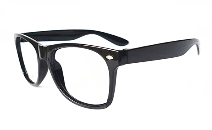 0b4f8c976afa FancyG Classic Retro Fashion Style Clear Lenses Glasses Frame Eyewear -  Black