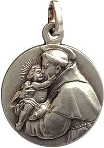 San Antonio de Padua Medalla de Plata Maciza 925