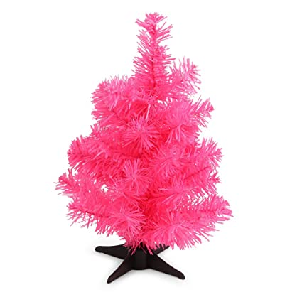 Paperchase 1ft 30cm Neon Pink Christmas Tree