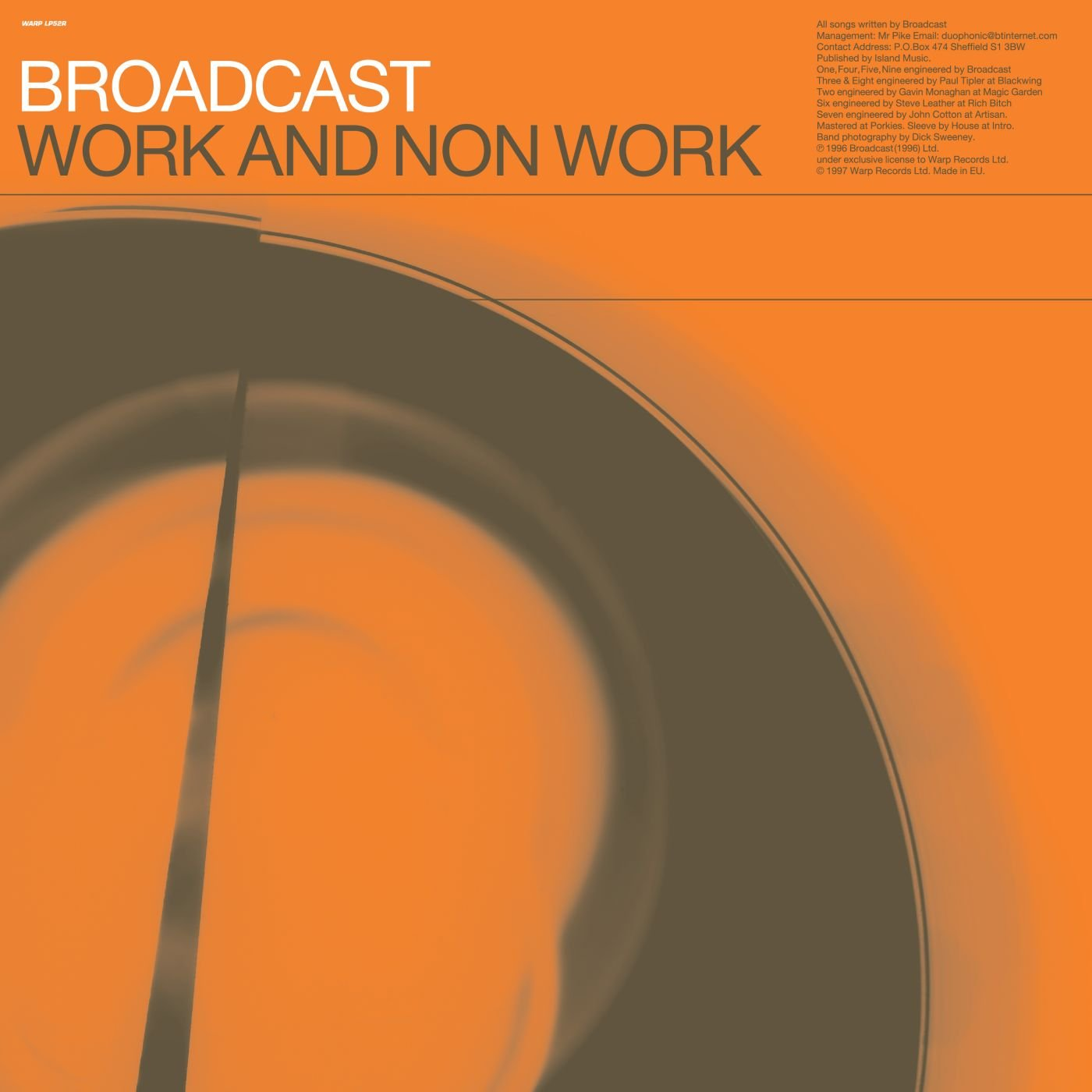 CD : The Broadcast - Work & Non-work (With Booklet, Jewel Case Packaging)