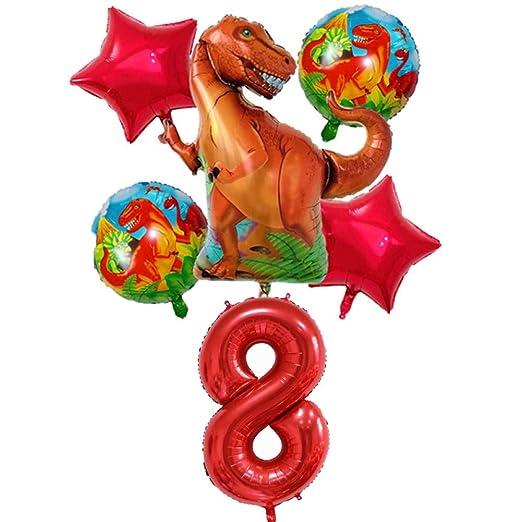 LIUUWO Balloon 6 Piezas Globos de Papel de Dinosaurio Globo ...