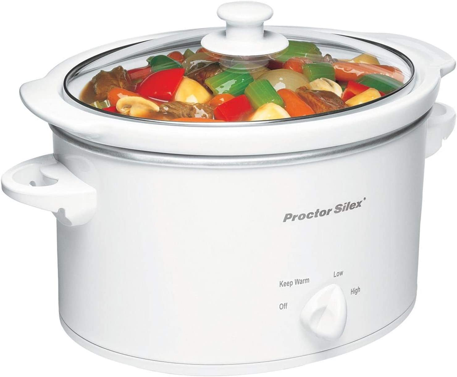 Proctor Silex 33275Y 33275 Oval Slow Cooker 3 quart White (Renewed)