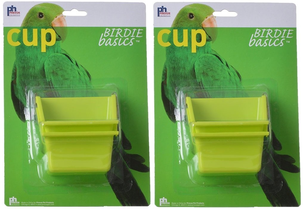 (2 Pack) Prevue Birdie Basics Perch Cups 4oz Prevue Pet Products Inc
