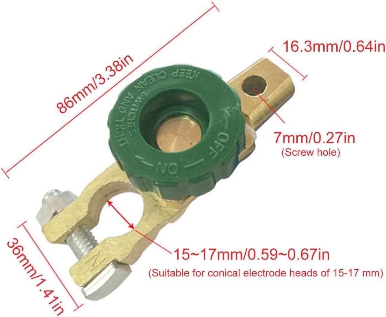 jaune et vert 17mm voiture moto batterie terminal lien coupe-circuit rapide interrupteur rotatif d/éconnecter isolateur voiture camion pi/èces de v/éhicules automobiles