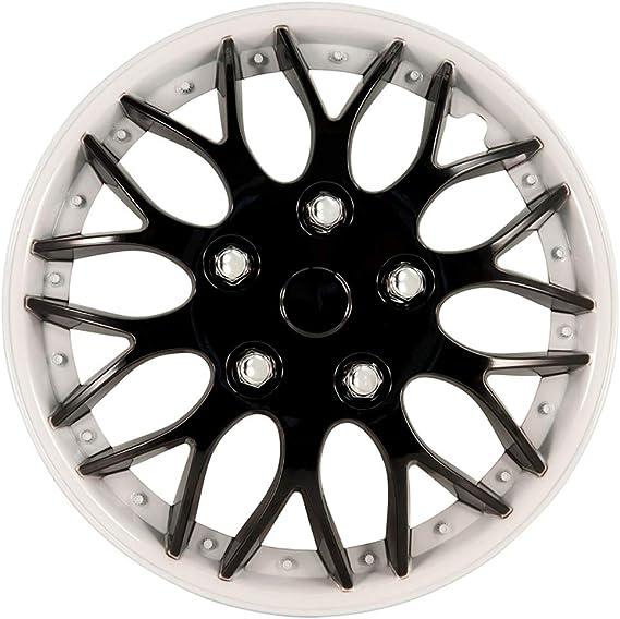 Autostyle Pp 9704bw Satz Radzierblenden Missouri 14 Zoll Schwarz Weiß Unrandet Auto