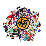 #10: Cartoon Stickers 50 PCS, Sarissa Dragon Ball Theme Waterproof Vinyl Stickers Car Sticker Motorcycle Bicycle Luggage Decal Graffiti Patches Skateboard Stickers for Laptop Stickers