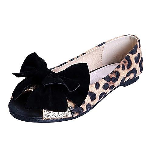 OCHENTA Bailarinas Mujer Leopardo Cabeza de pescado Moda Simple Casual  Leopardo 43  Amazon.es  Zapatos y complementos e3b8915706087