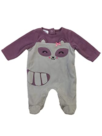 a3bd07bef9 Infant Girls Gray   Purple Fox Blanket Sleeper Plush Sleep   Play Pajamas  ...