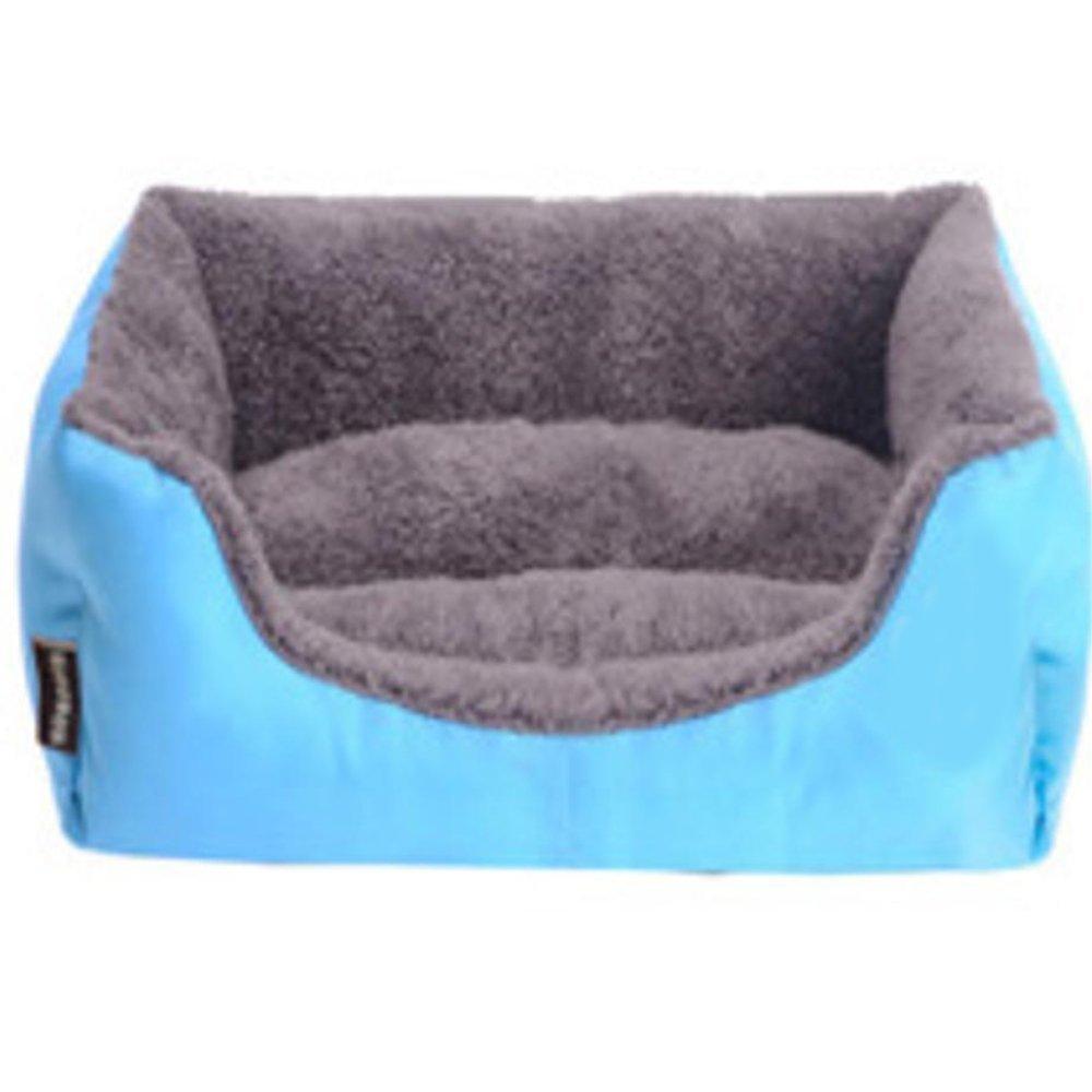 C 45cm35cm12cmYunYilian Pet Bolster Dog Bed Comfort Cloth Rectangular Pet Mat Kennel Cat nest (color   A, Size   68cm55cm16cm)