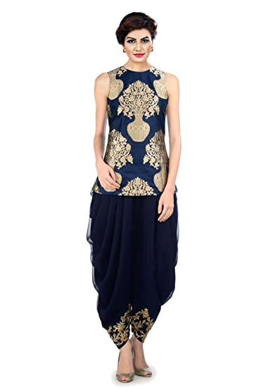 82f38ce467 Dhoti & Jacket By Ravechi Fab(Navy Blue): Amazon.in: Clothing & Accessories