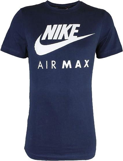 Nike Air Max Hommes Bleu Royal T Shirt Athlétic Cut Jersey